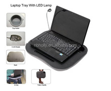 TV127-1 Fashion portable laptop tray with lamp and cup holder