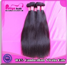 Patiya new hair porducts quality virgin hair bundles,cambodian silky extensions,thick weft full cambodian virgin human hair 6a