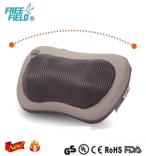 Electric heated car massage headrest pillow for car and home use