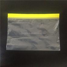Waterproof plastic food bags zipper slider bag