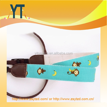 Mint green and grey cute little monkey With Banana hit color camera strap for dslr micro camera