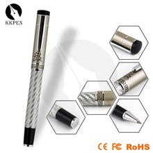 Jiangxin White carbon fiber roller ball pen gel ink roller pen