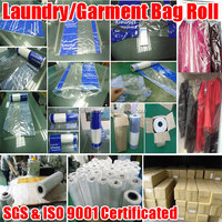 OEM High Quality Dry Cleaning Poly Garment Bags | Hot Sell Personaized LDPE Plastic Laundry Bag in Rolls
