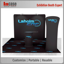 China pop up display stand back wall display booth