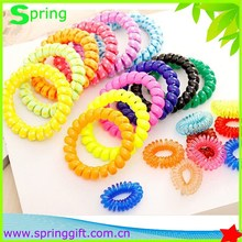 Fashion Candy Colored Transparent Telephone Line Hair Ring