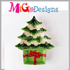 Christmas Tree Shaped Funny Xmas Gifts Ceramic Plate