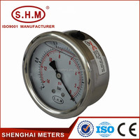 Bourdon sedeme pressure gauge manometer