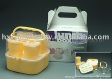 plastic lunch box with cup travel set
