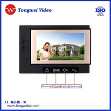 7inch Color LCD Video Door Phone Monitor Intercom with unlocking function