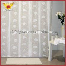 Venta al por mayor de baño cortinas de Color blanco de estilo americano cortina