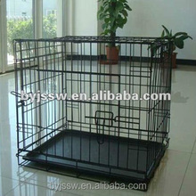 """24"""" 30"""" 36"""" 42"""" 48"""" Black Metal Wire Dog Cage with Metal Tray"""