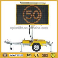Amber Color Solar Powered Outdoor Led Portable Signs Australian Standard C Size 2600X1600mm