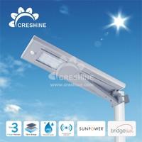 Exterior Wall Solar Light 20W Waterproof Cool White LED Street Light, LED solar Street Lamp for Roadway