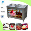 roll fried ice cream machine with 2 compressors, fast cooling speed