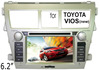 (for Toyota VIOS (new)) 6.2 Inch two din Car DVD player GPS, car-reversing video,bluetooth