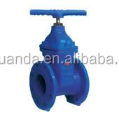 DIN 3356 resillient Seat non-rising stem gate valve F4/F5 GG25/Cast Iron HT250 Flange End PN16