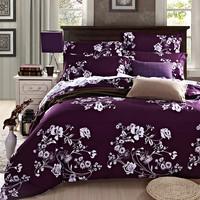 wholesale sheet sets polycotton purple bed covers