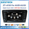 ZESTECH High Quality car gps player for audi A3 car dvd player with BT radio fm am usb sd all in functions