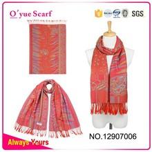 Big Ladies Wrap Woven Colorful Design Jacquard Shawl