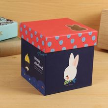 white rabbit baby shower candy box