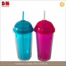 China round cap 16oz economical round attractive plastic tumbler with straw