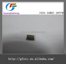 50 mhz 7 x 5 activo SMD cristal de cuarzo oscilador 50 mhz 50.000 mhz 5 * 7 7050 5 7 20 ppm a 50 ppm 15pf