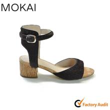 MK086-1 BROWN best sale simple design chic pony hair ladies low heel dress shoes
