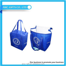 2015 new style insulated promotional cooler tote bag with drink holder