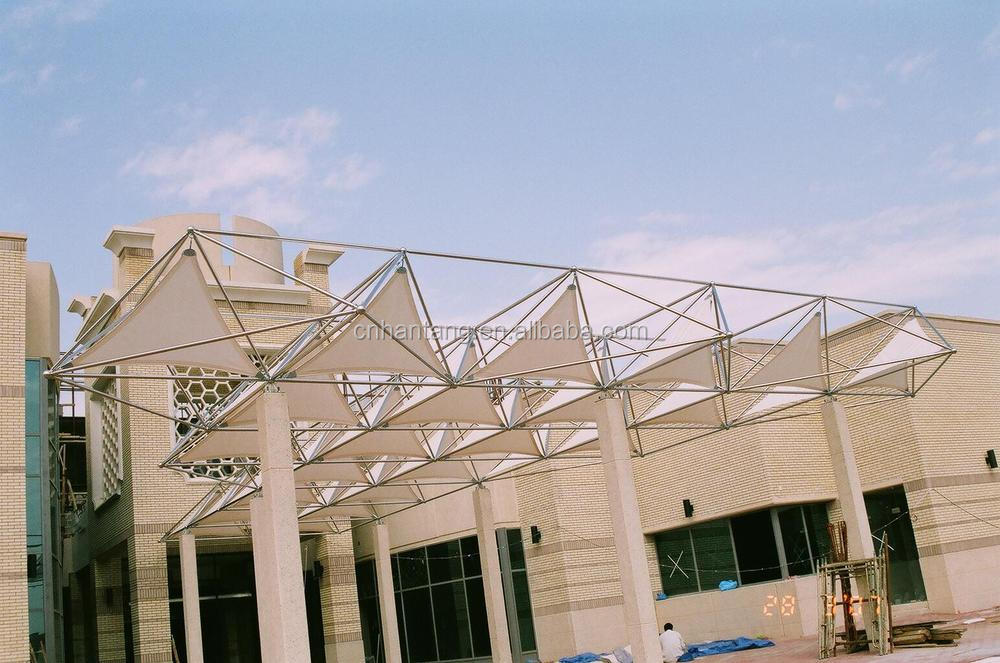 ss canopy kuwait stainless steel space frame system building