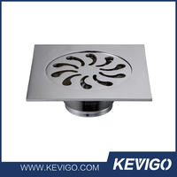 Customized anti-odor shower 4 inches stainless steel tile insert floor drain