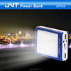 13000mAh rechargeable USB Solar charger power bank with big torch ,12 months warranty NP056