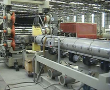 T-lining plastic machine