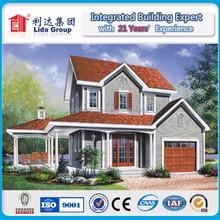 Small area modular light steel villas with customer with three bedroom