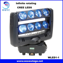 WLED 1-1 rgbw 4 in 1 10w leds Infinite rotating stage light led moving head beam bar 8*10w