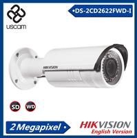 Hikvision 2.0 MP Low Price CCTV EXIR Network Bullet IP Camera , bullet proof camera,Vari-focal 2.8-12mm DS-2CD2622FWD-I