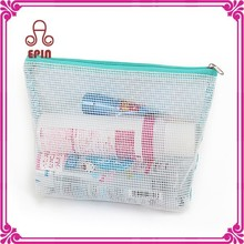 Newest design clear plastic pencil case with fabric