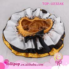 Hot sales small dots with ribbon wholesale bloomers girls ruffle shorts