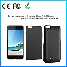HOT !For iphone 6,for iphone 6 Polymer external 3000mah 4000mah battery charger case