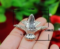 Silver Decorative Jewelry Box Feet Case Leg 42x30with Screws