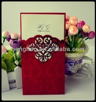 Fashion wedding card & Hot sale invitation card & laser cut arabic wedding invitation card