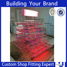 supermarket candy countertop pvc corrugated counter display boxes
