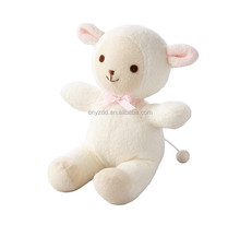 Plush Pull String Musical Toy Lamb/Huggable Sound Toys for Baby/Stuffed Animated Toy Sheep with Muisc Box