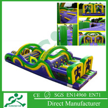 cheap inflatable obstacle course, outdoor paintball obstacle course equipment for games