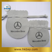 High Quality Drawstring Suede Pouch for Famous Brand Promotion Gift, Customized Faux Suede Bag