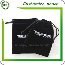 Hongway high quality custom brand logo, velvet gift bags /velvet gift pouches