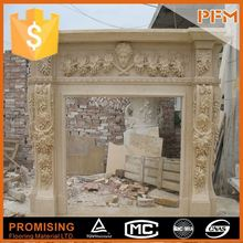 2014 hot sale natural marble made hand carved fireplace and stoves surrounds