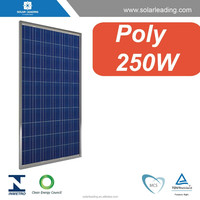 Net metering solar system optimized Poly crystalline 250W solar pv panels with high quality materials
