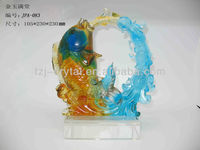 2014 Hot Sales!!Crystal Liuli Fish for home decoration