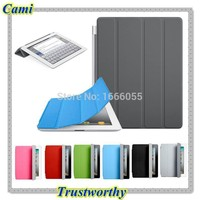 Trustworthy Ultra Thin Magnetic Leather Smart Cover Case for iPad 2 3 4 cover with stand function flip case for ipad 4