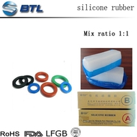Molding and extruder type solid two component silicone rubber price